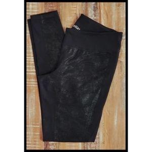 Zella Faux Leather Print Stretch Knit Leggings M